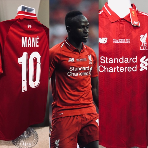 buy popular 672f6 66ef2 MANÉ #10 Liverpool Soccer Jersey UEFA 2019 Final NWT